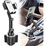 Car Cup Holder Phone Mount, CTYBB Cup Holder Cradle Car Mount with Adjustable Neck for Cell Phones iPhone 12 Pro Max /11 Pro/