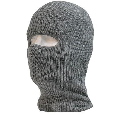 c8bcffc0fca 1 Hole Knit Tactical Ski Mask Beanie Monkey Caps by Decky (Grey)