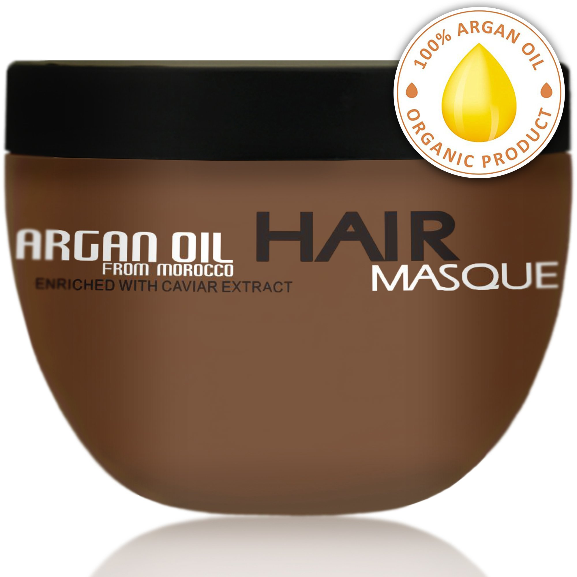 Argan Oil Hair Mask - Deep Conditioner Sulfate Free for Dry or Damaged Hair with Organic Jojoba Kernel Oil Aloe Vera Collagen and Keratin by Pure Nature Lux Spa