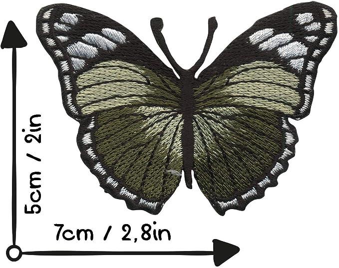 Freak Scene parche - Mariposa - verde oliva-nero-blanco: Amazon.es: Hogar
