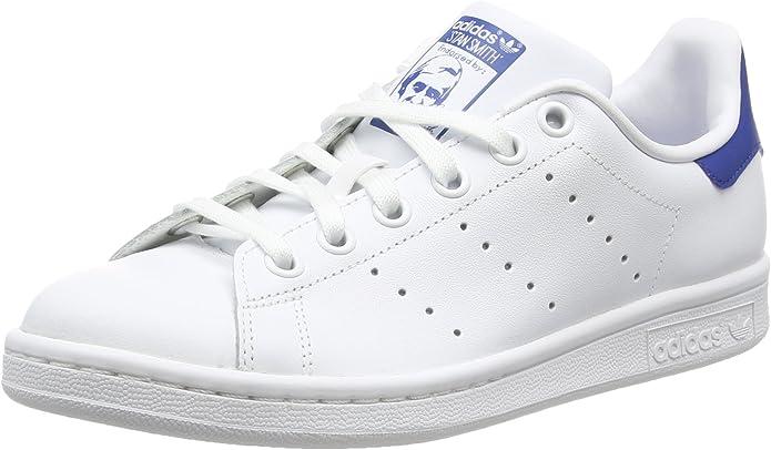 adidas Stan Smith Sneakers Jungen Kinder weiß blau Größe 35 1/2 bis 38