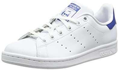 adidas Stan Smith, Baskets Basses garçon, Blanc FTWR White/EQT Blue S16,