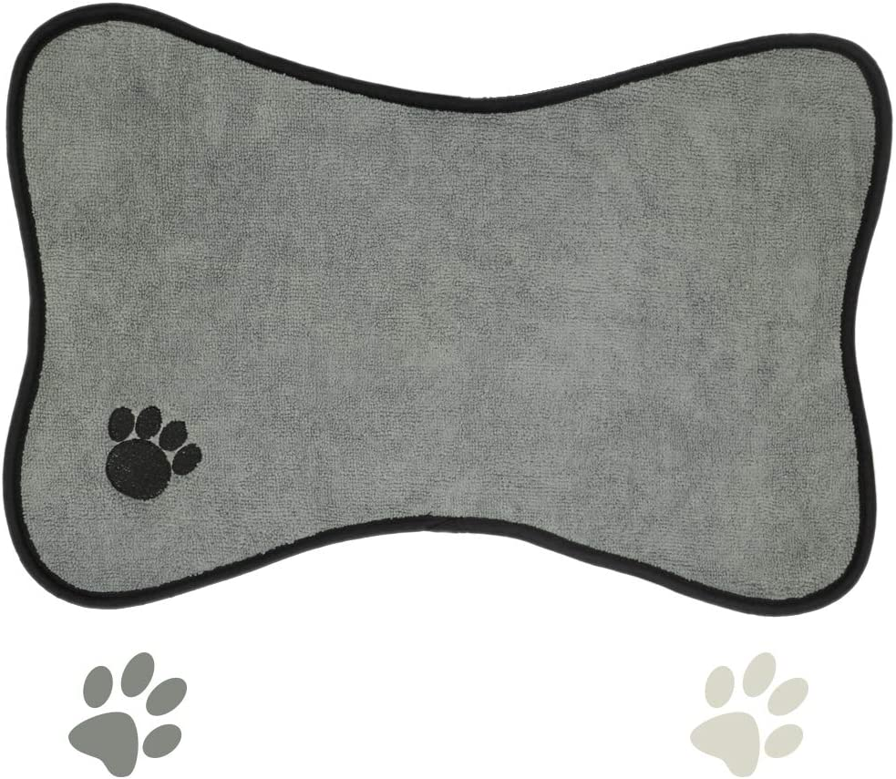 Ptlom Dog and Cat Medium and Small Placemat, Pet Food and Water Mat Suitable for Medium and Small Pets, Prevent Water and Food from Spilling, Cotton