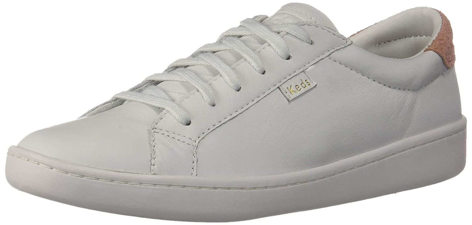 White Coral Keds Women's Ace LTT Leather Sneakers