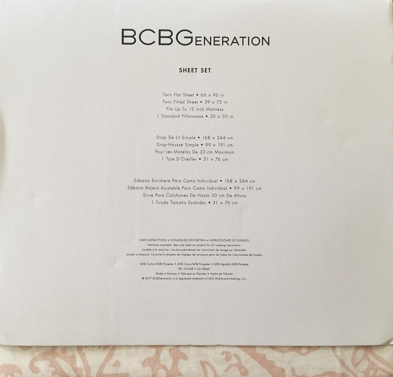 Amazon.com: BCBGeneration Floral Paisley Twin Sheet Set, Dusty Pink: Home & Kitchen