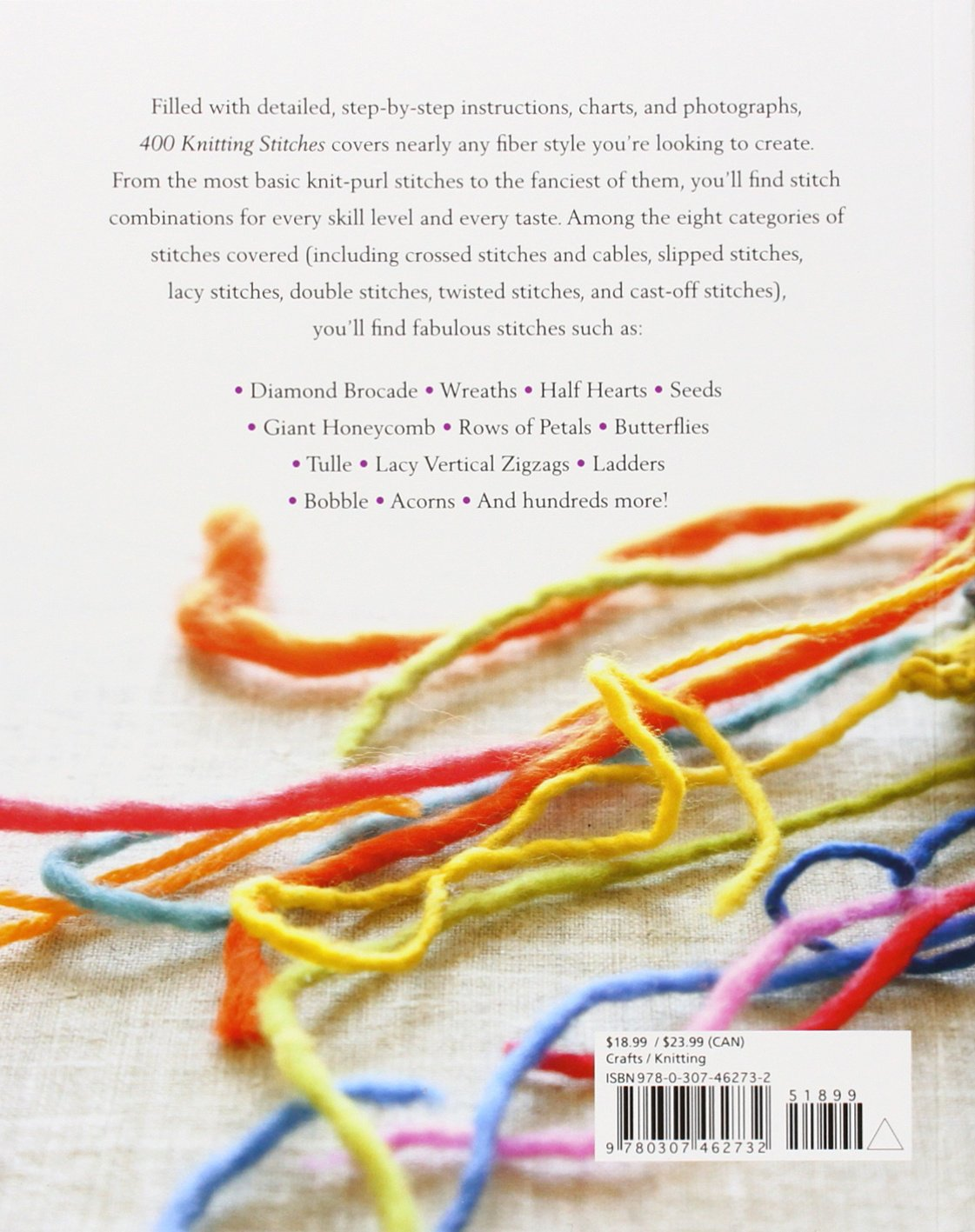 Amazon.com: 400 Knitting Stitches: A Complete Dictionary of ...