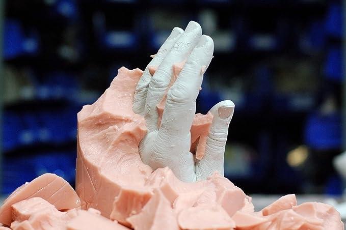 Kit para huellas 3D para moldes de pies, manos y más - 453 g de alginato Alginsax + 1 kg de cerámica de yeso de alta calidad: Amazon.es: Hogar