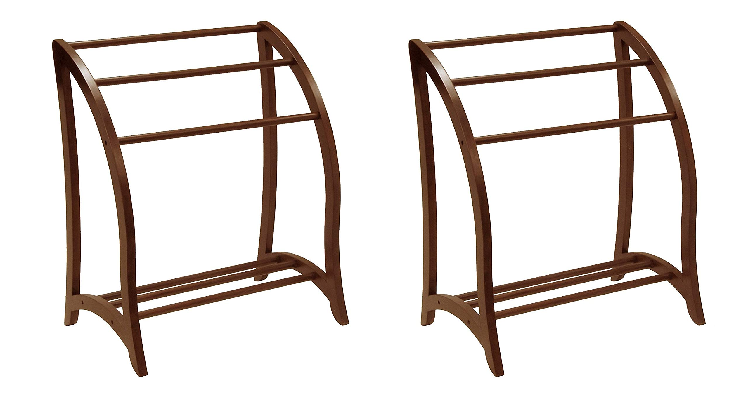Winsome Wood Blanket Rack, Antique Walnut (Pack of 2) by Winsome Wood (Image #1)