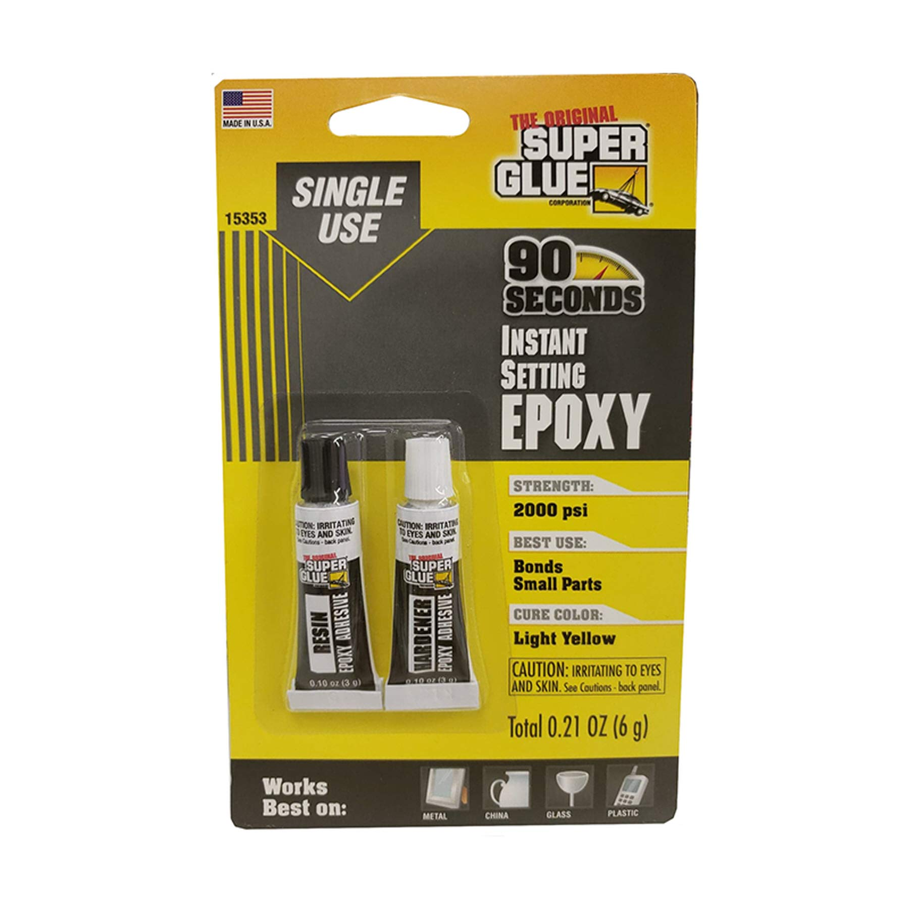 (Pack of 24, 48 Ct) The Original Super Glue Super Glue Instant Setting, 3 Gram Tube, 2pk