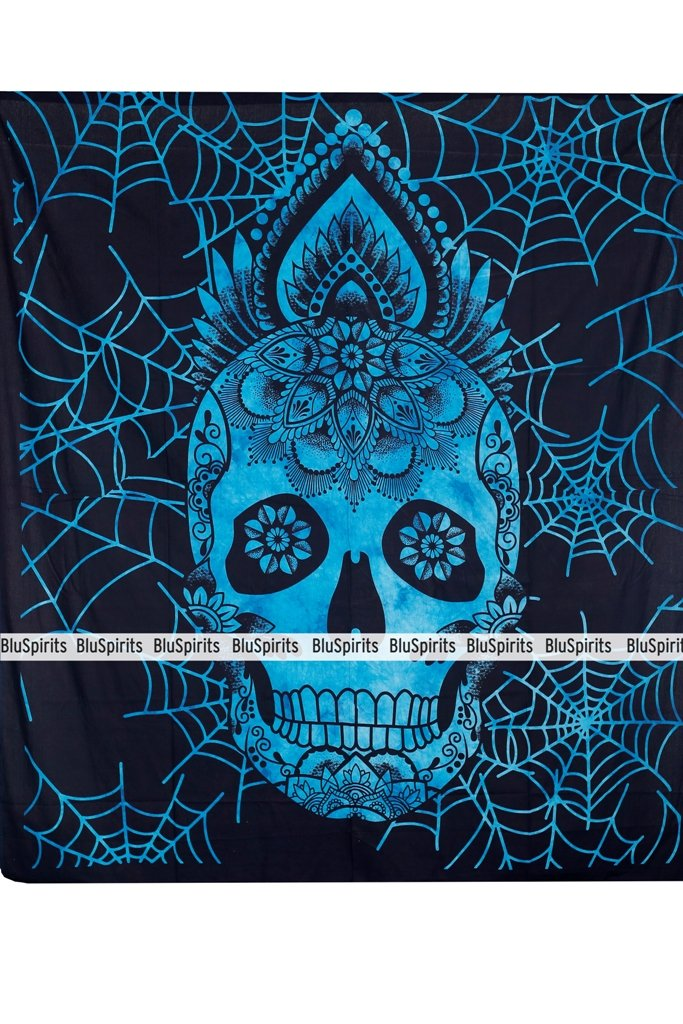 Queen Skull Halloween Multi, Multi Beautiful Mandala Wall Hangimgs BluSpirits Economic Range of Tapestries from