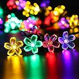 Gracetop 7m luce della stringa 50LEDs,luce della stringa solare,stringa di lampada per la festa di Natale, Halloween, casa, giardino, alberi, festivo parti, decorazione esterna.--Waterpro, Bright (8 modalità)
