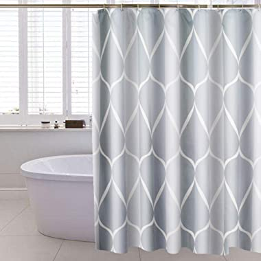 Lilium Shower Curtain Simple Comfortable Style, Gray Printed Pattern, Waterproof Thickened Bathroom Curtain, Bath Curtain Shower Room Curtain Liner (Gray, 71W×71H)