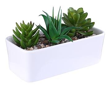 Greencherry tm 17 cm rechteckig moderne minimalistische weiße