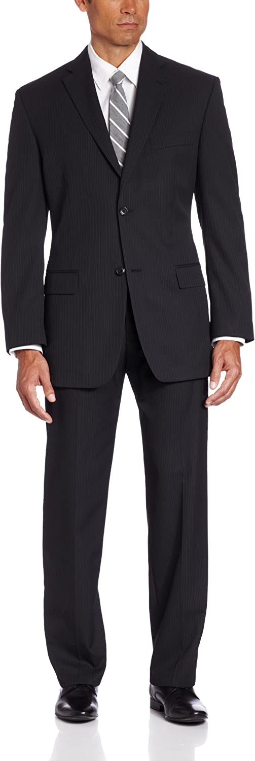 Haggar Men's Big & Tall Striped Two-Button Suit-Separate Jacket