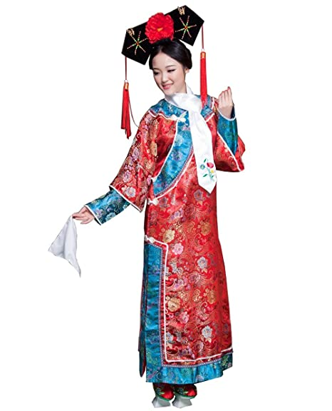 325c15981 ZENGAI Ancient Costume Female Qing Dynasty Clothing Manchu Princess Dress  Television Performance Photo Clothes, 3 Colors (Color : A, Size : Universal  Code): ...
