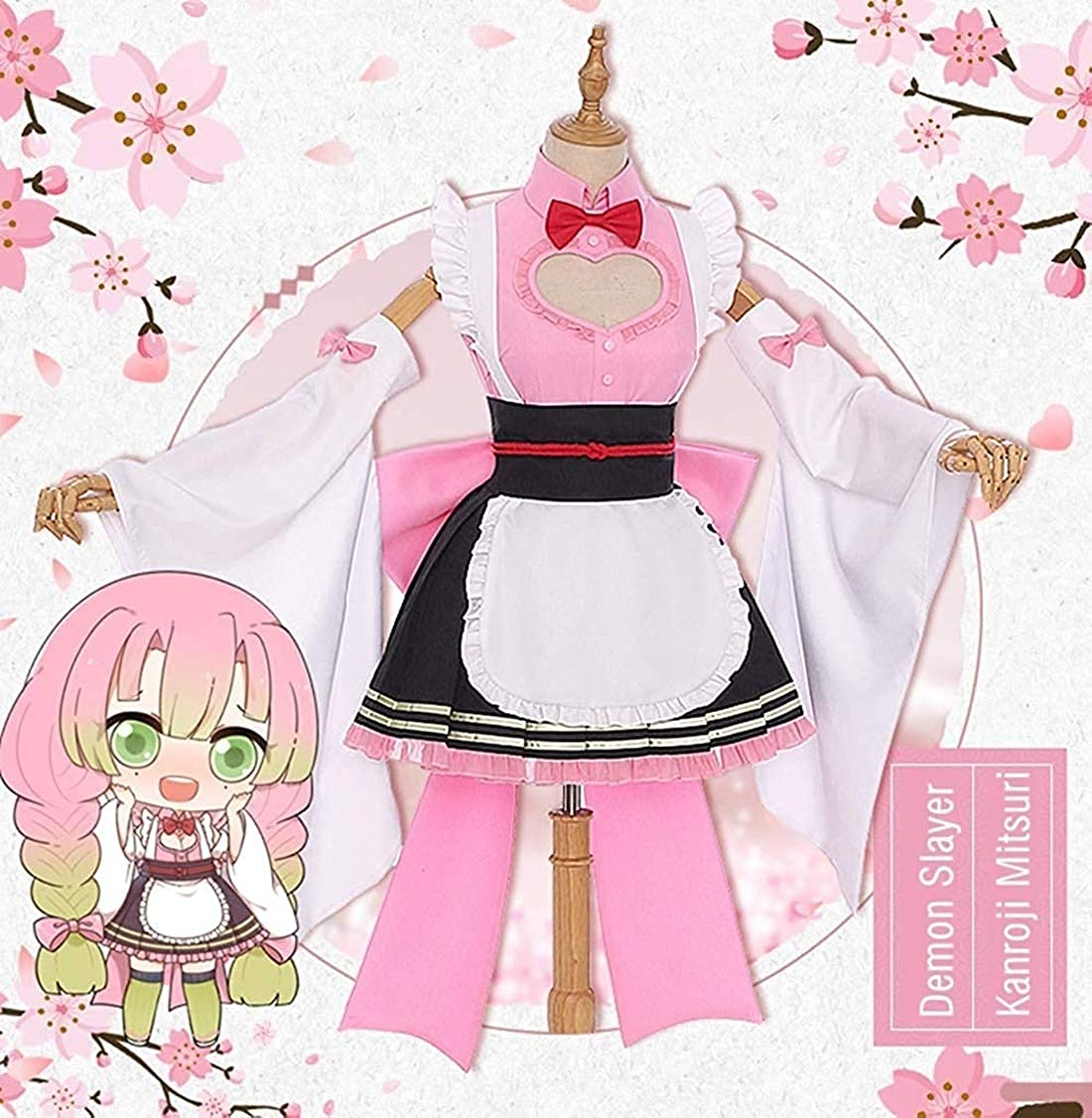Amazon Com Demon Slayer Kimetsu No Yaiba Cosplay Kanroji Mitsuri Cosplay Costume Kimono Maid Dress Halloween Costume Full Set Clothing Kimetsu no yaiba is a japanese manga series written and illustrated by koyoharu gotōge. demon slayer kimetsu no yaiba cosplay