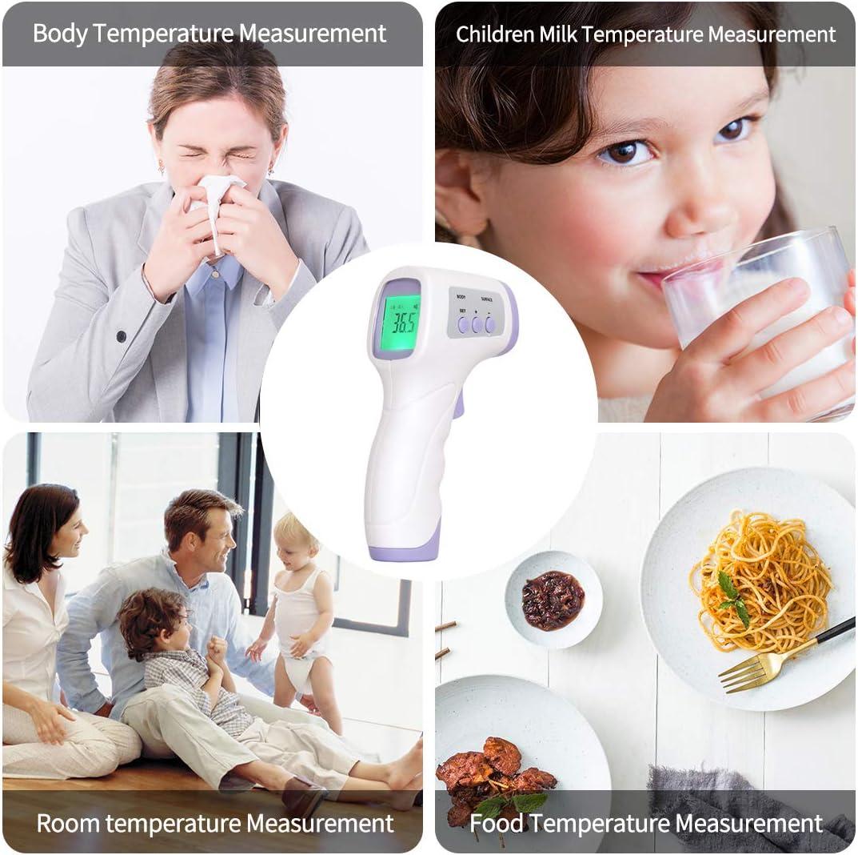 Ni/ños LCD Digital Medidor Term/ómetro Digital Frontal Rango de Temperatura Infrarrojo sin Contacto para Beb/és Adultos y Mascotas Term/ómetro Digital Frente