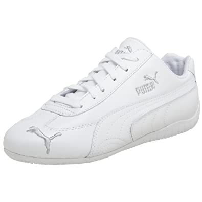 Puma Women's Speed Cat St Us Sneaker, WhiteSilver, 10 B