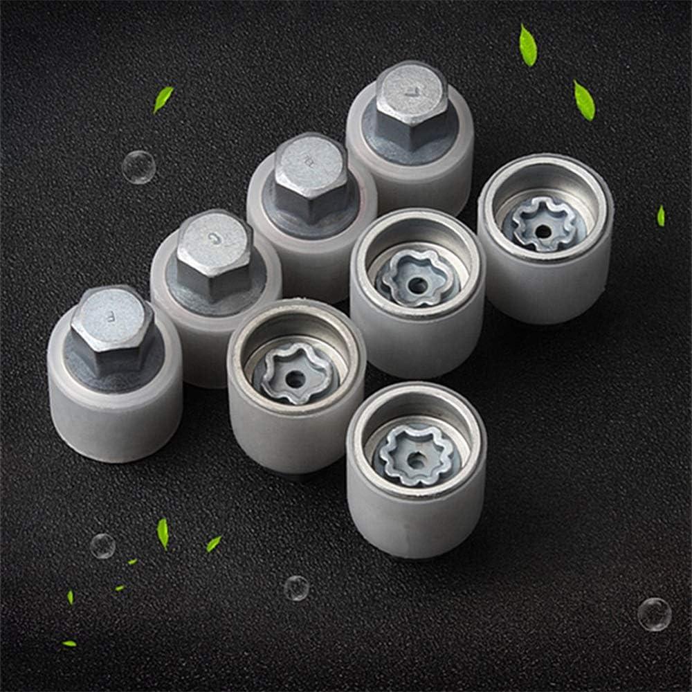 Color Name : X X-xiazhi-luntai 1pcs pneus Anti-vol Vis d/ésassemblage Outil Manches cl/é for Audi A1 A5 A3 A4L A6L A7 Q3 Q5 A8 TT R8