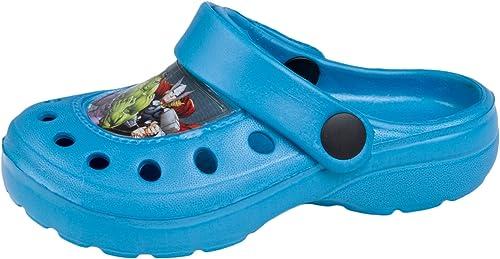 Boys Avengers Blue Slip On Beach Sandals Clogs Mules UK Sizes 6 to 12