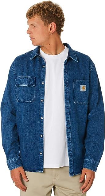 Carhartt Camisa para Hombre Jeans I023977BLSTN: Amazon.es: Ropa y accesorios