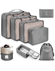 Organizer Valigia Set di 8, Organizzatori da Viaggio Cubi di Imballaggio Sistema di Cubo di Viaggio Perfetto di Viaggio Dei Bagagli Organizzatore