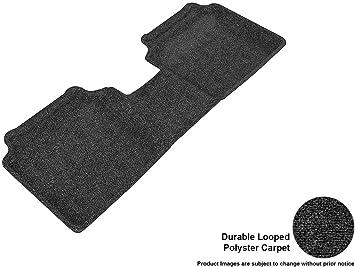 3D MAXpider L1HY02122209 Second Row Custom Fit Floor Mat for Select Hyundai Elantra Models Classic Carpet Black