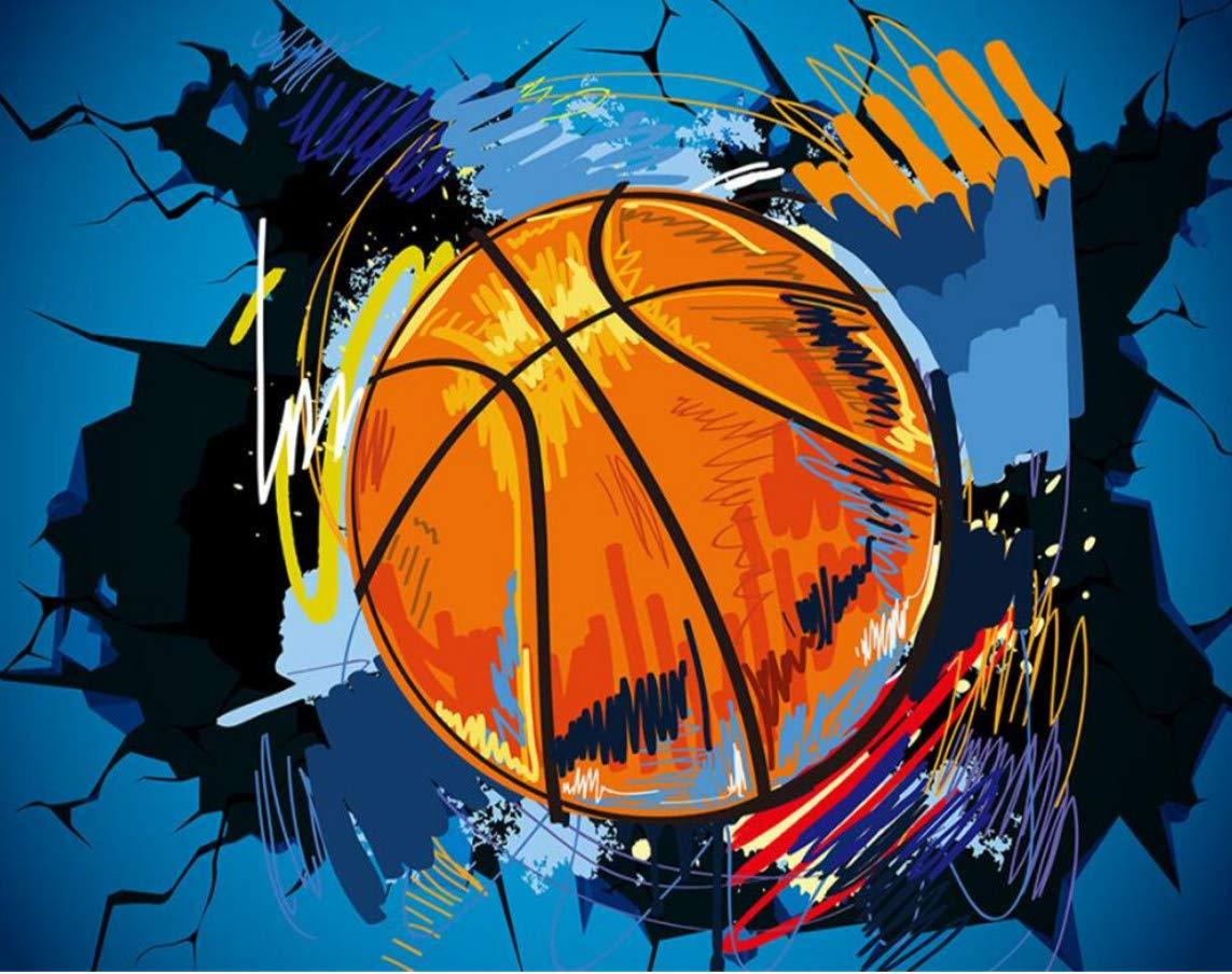 WH-PORP  Benutzerdefinierte Tapete 3D Tapete Benutzerdefinierte Basketball Wände Europa und die Vereinigten Staaten Wind 3D Tv Hintergrund Wohnzimmer Zimmer Wandbild 3D Tapete-300cmX210cm a9715c