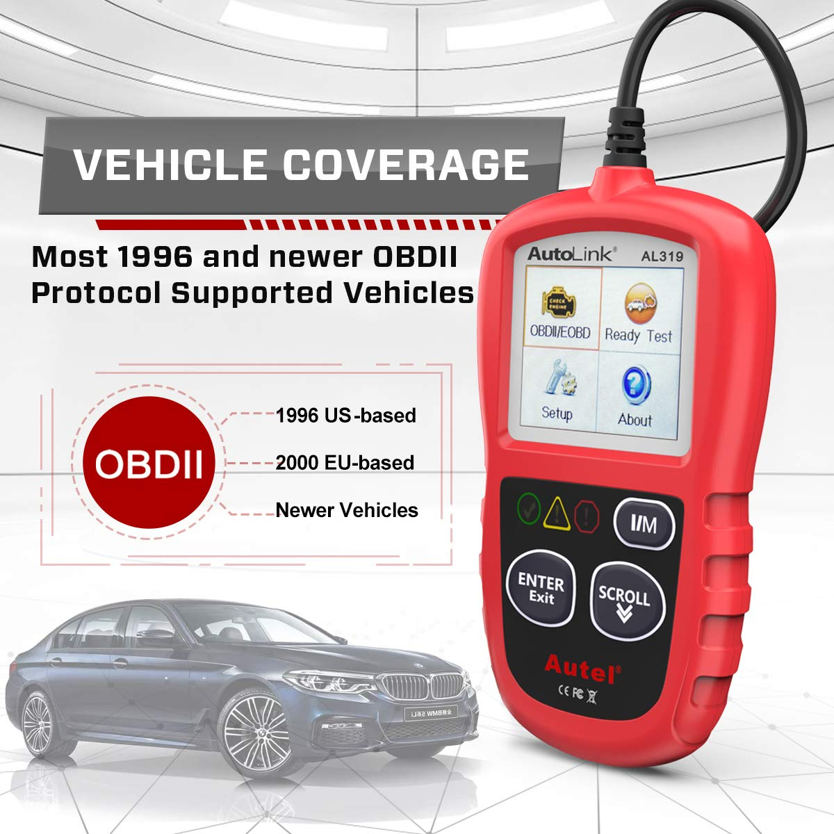 Autel AutoLink AL319 Engine Fault CAN / OBD2 Code Reader