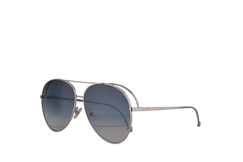 eb217c7819 Amazon.com  Fendi FF0286 S Sunglasses Palladium w Blue Gradient Lens 63mm  01008 FF0286S FF 0286S FF 0286 S  Clothing