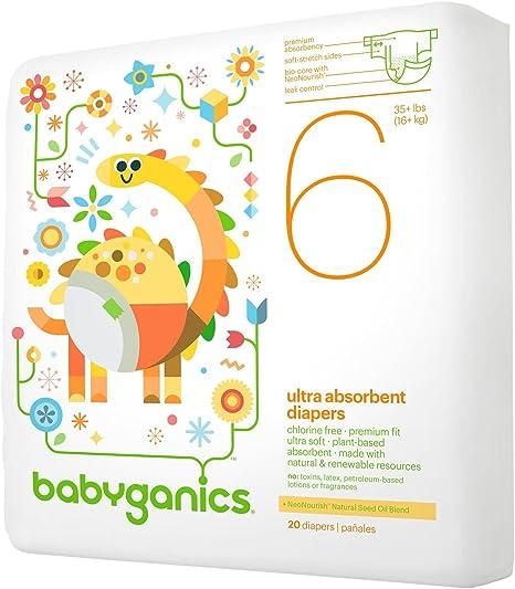 30 Count 30 Count Babyganics Babyganics Ultra Absorbent Diapers Size 2