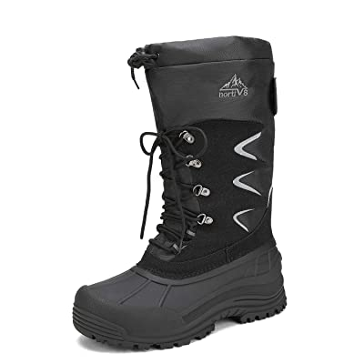 NORTIV 8 Men's Waterproof Hiking Winter Snow Boots Insulated Fur Liner Lightweight Outdoor Tall Booties | Snow Boots