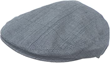Headchange Summer Plaid Ivy Scally Driver Cap Polyester Flat Hat 7a6fac593955
