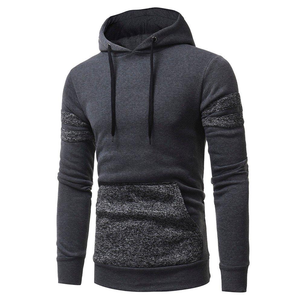 Hoodie For Men,Clearance Sale-Farjing Mens' Long Sleeve Hoodie Hooded Sweatshirt Tops Jacket Coat Outwear(3XL,Gray)