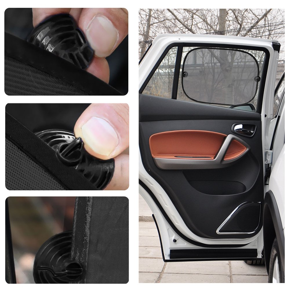 Korostro Parasol Coche Beb/é 3 sets Protector solar para la ventana del coche Ajuste universal Ventana Lateral Parasol protecci/ón contra rayos UV para ni/ños y beb/és las quitasol bloquean la luz solar el des Parasoles para coche
