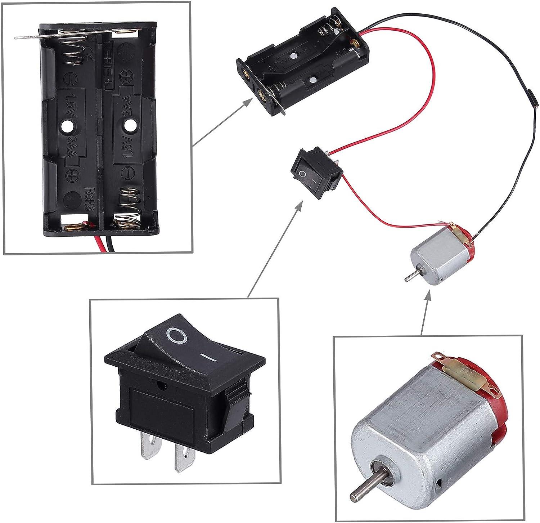 12V 25000 RPM with 86Pcs Plastic Gears 6 set DC Motor Mini Electric Motor  3V
