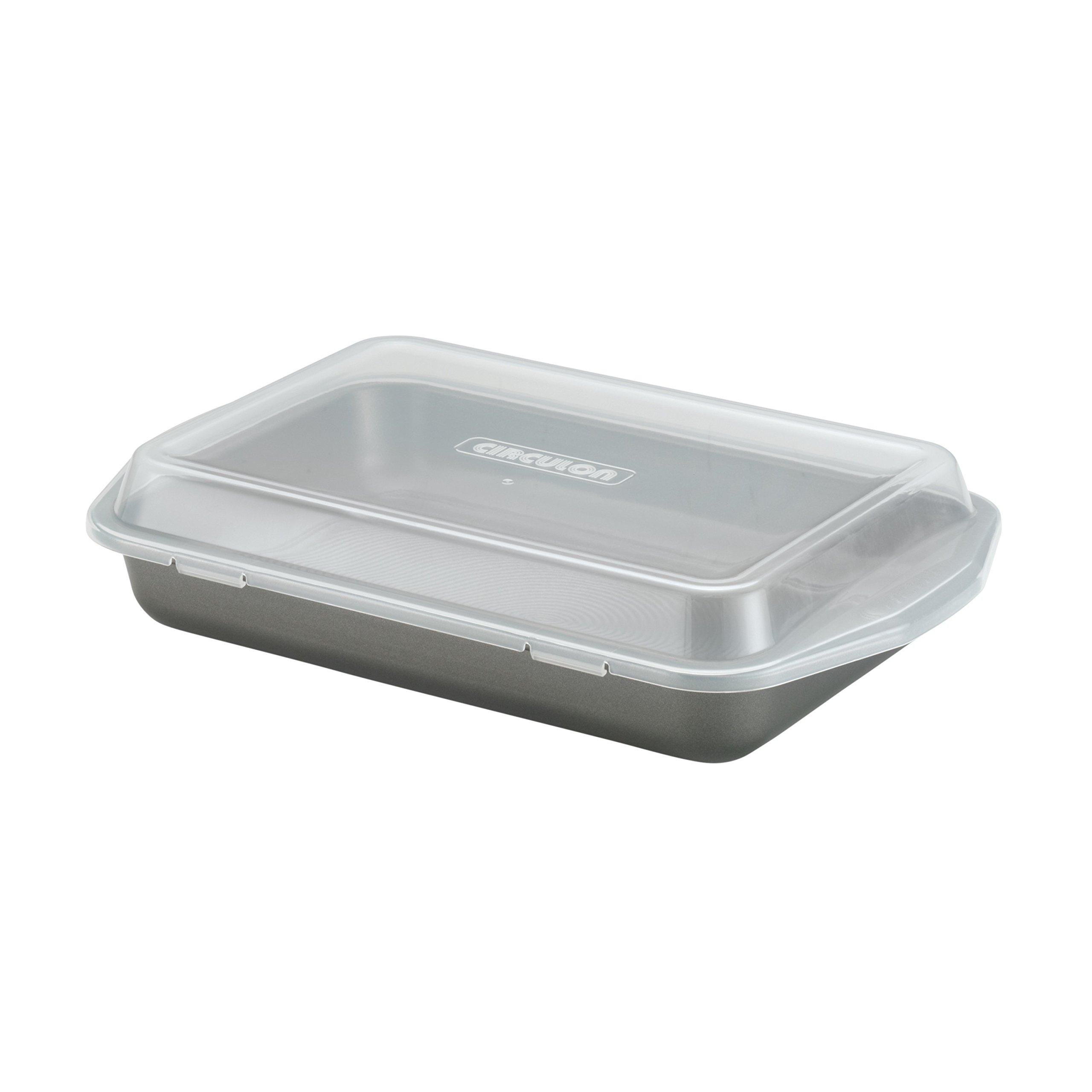 Circulon 57968 Bakeware Cake Pan, 9'' x 13'' with Lid by Circulon