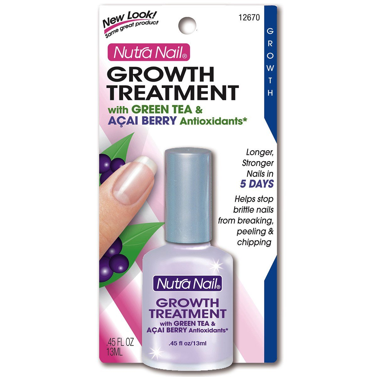 Amazon.com : Nutra Nail Growth Formula Plus Green Tea and Acai Berry ...