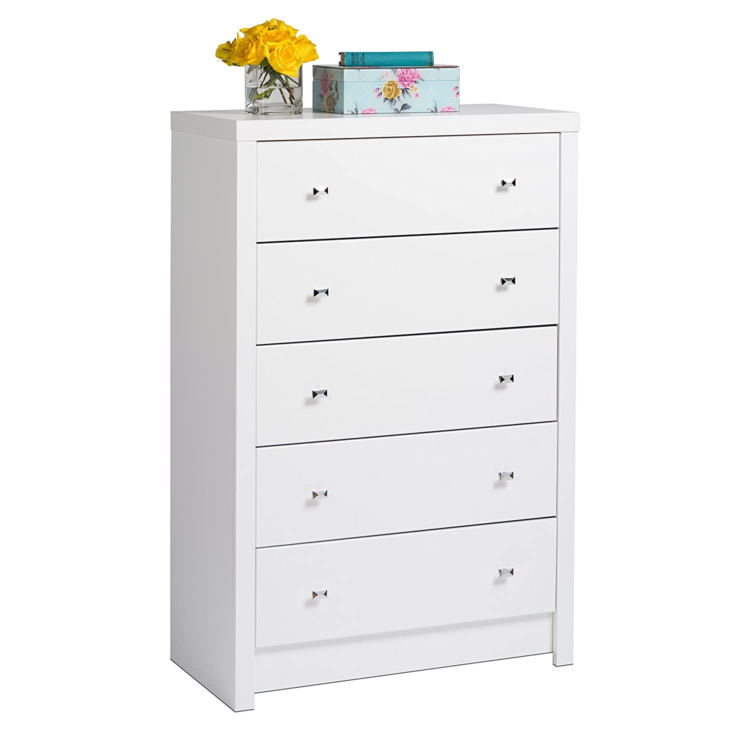 Prepac WDBR-0550-1 Calla 5 Drawer Chest - White