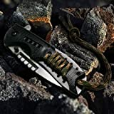 *New CROCBAIT MK1 Knife* Best Outdoor Companion Folding Pocket Knife Hunting Camping Fishing Survival Tactical Bushcraft…