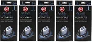 Hoover Type I HEPA Bag , AH10005 (5 Packs of 2: Total 10 bags)