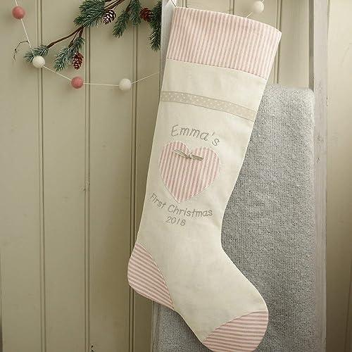 Grey Christmas Stockings Personalised.Christmas Stockings First Christmas Stockings Personalised