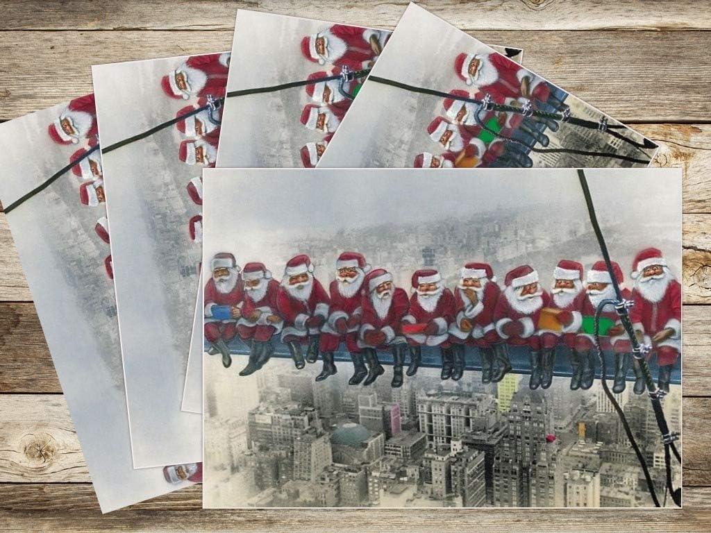 Hippo carte de Noël acheter comme carte unique lot de 5//10 cadeau de Noël Cadeau Drôle