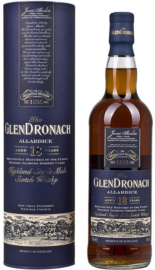 a14b87dda00 GlenDronach 18 Year Old Allardice Highland Single Malt Scotch Whisky 70 cl   Amazon.co.uk  Grocery
