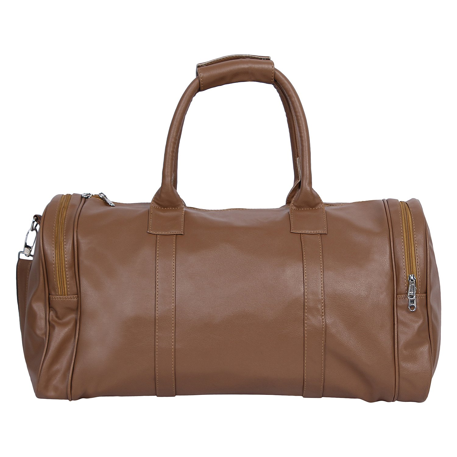 Mboss Leather 57.99 cms Beige Travel Duffle (TB 011)  Amazon.in  Bags 52c2f8042eb56