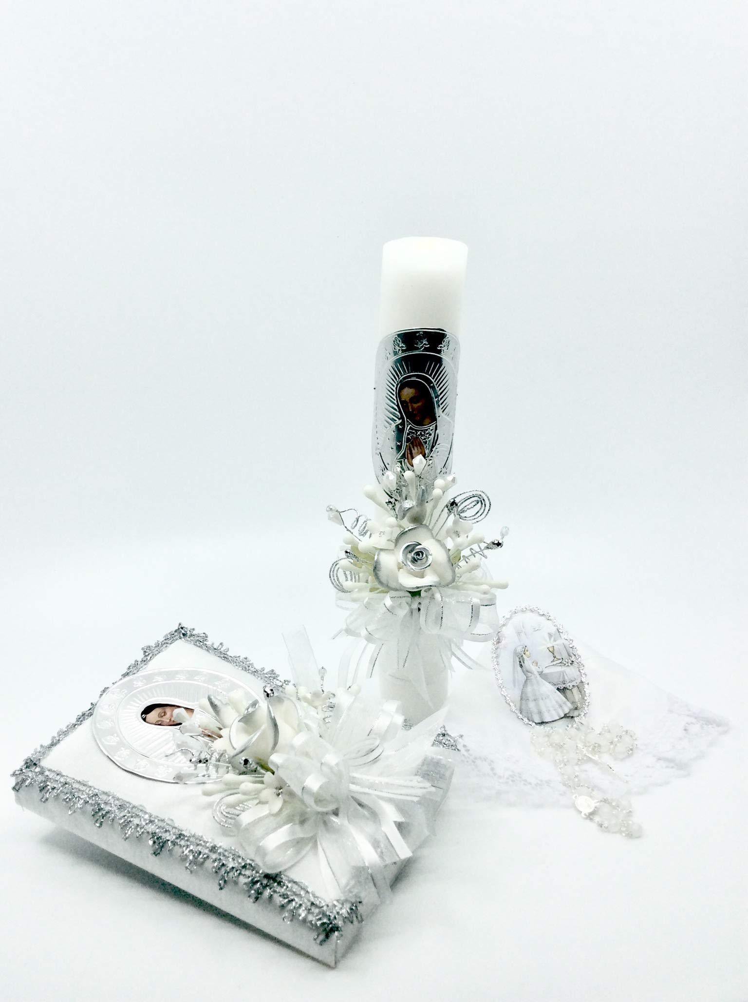 Casa Ixta First Communion Candle Lady of Guadalupe Image by Casa Ixta (Image #4)