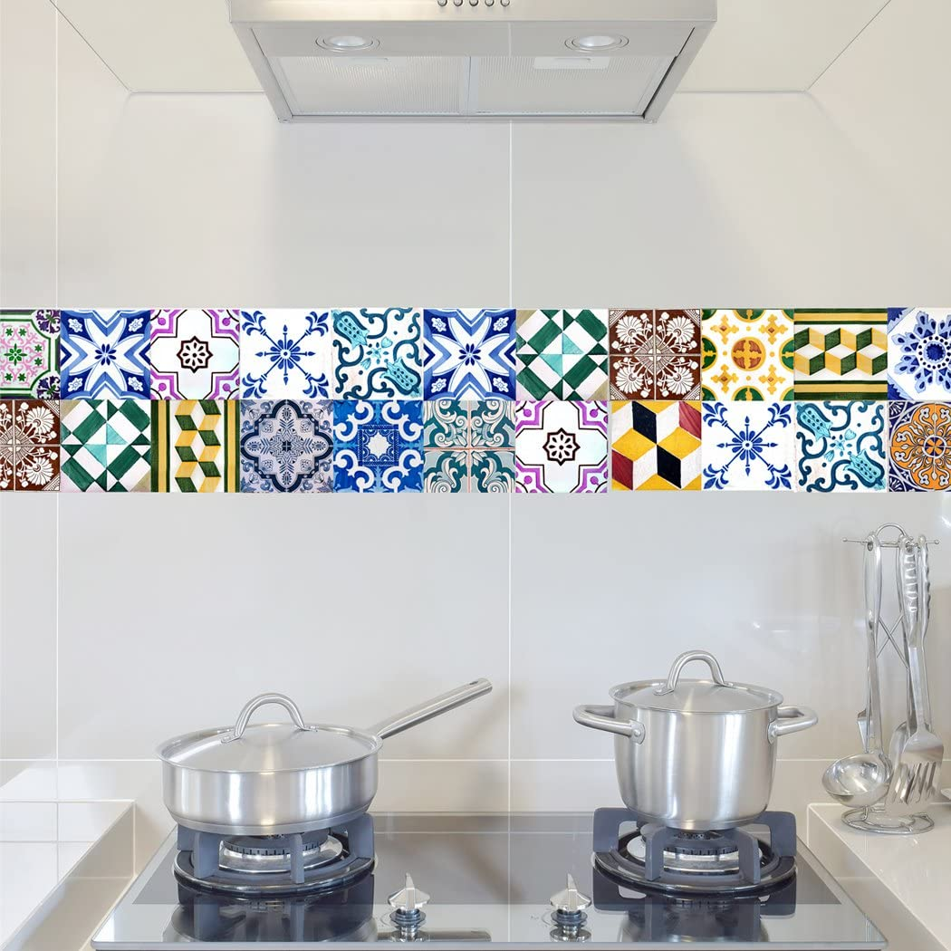 - Portugal Tiles Stickers Wels - Set Of 16 - Tile Decals For