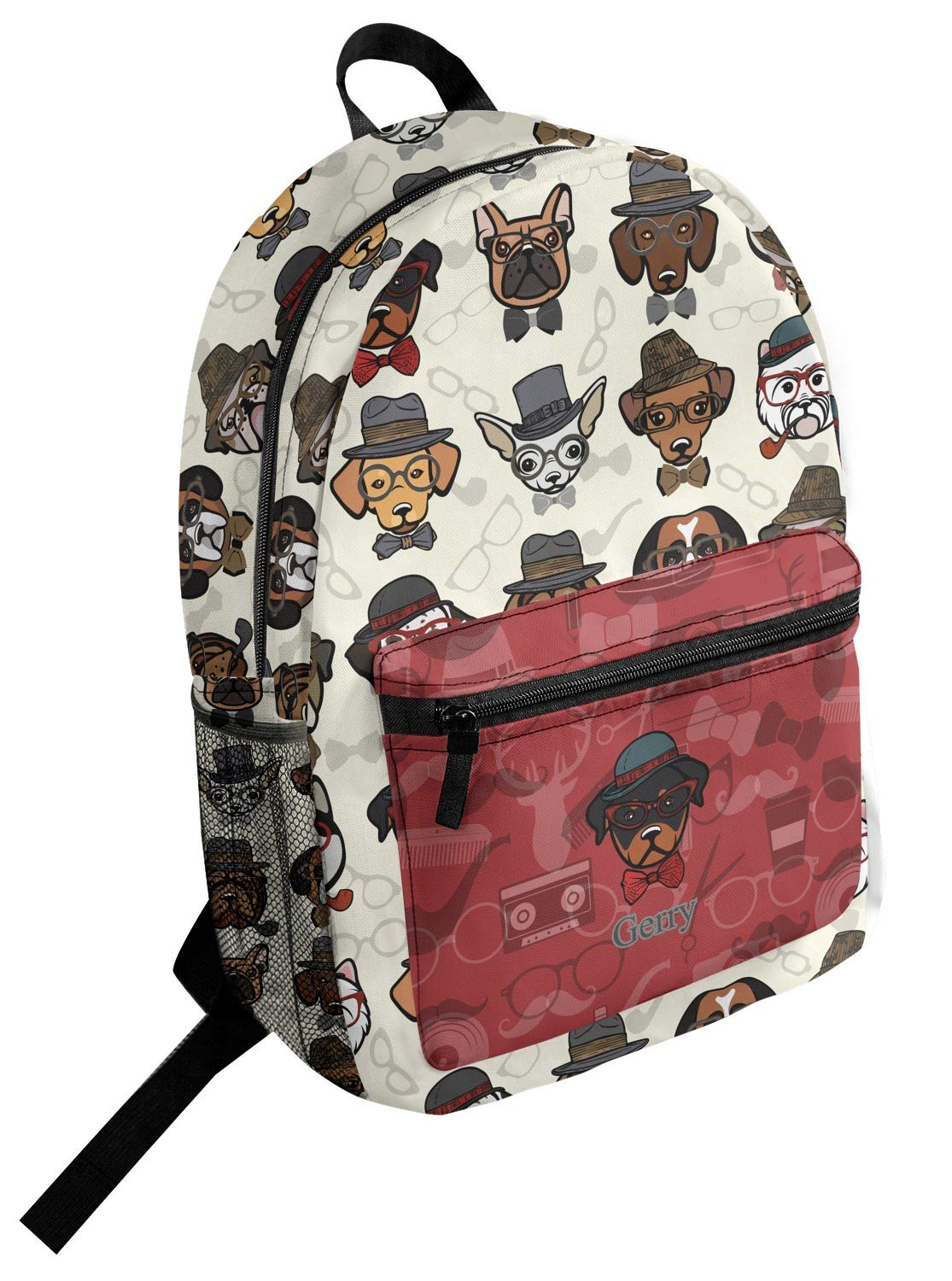 Hipster Dogs Student Backpack Personalized