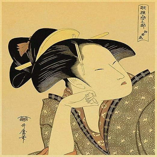 zxddzl Nostalgia Cartel de Estilo Antiguo japonés Papel ...
