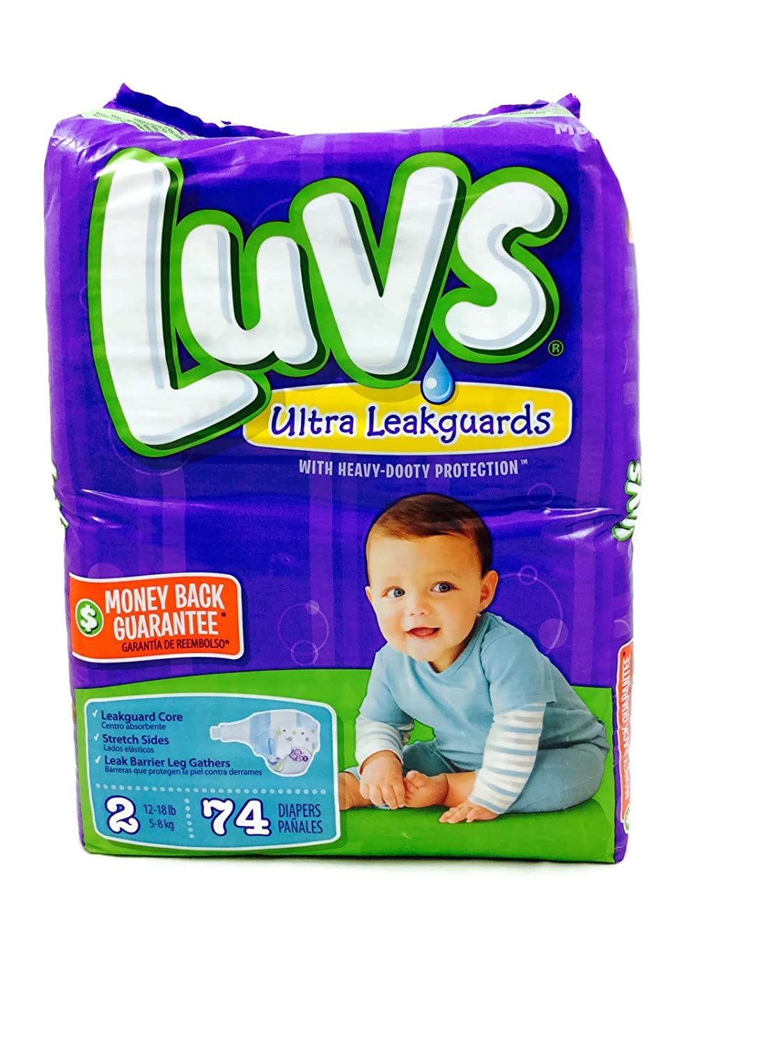 Amazon.com: Luvs Ultra Leakguards Size 2 Count 74: Health & Personal Care
